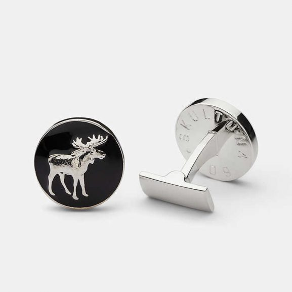 Cuff Hunter Collection Moose Black Silver Plated från Skultuna