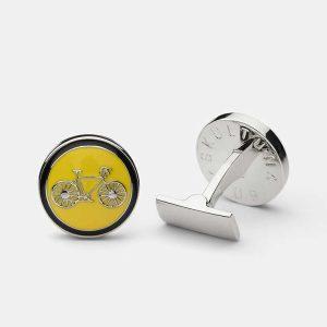 Cuff Links Themocracy Silver Yellow från Skultuna