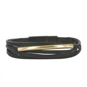 ANDY Bracelet Black/Gold från Arock
