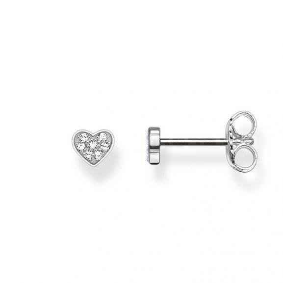 Hjärtformade Diamantörhängen från Thomas Sabo
