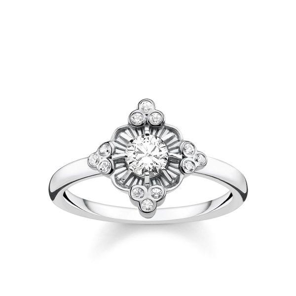Ring Royalty Vit Silver från Thomas Sabo
