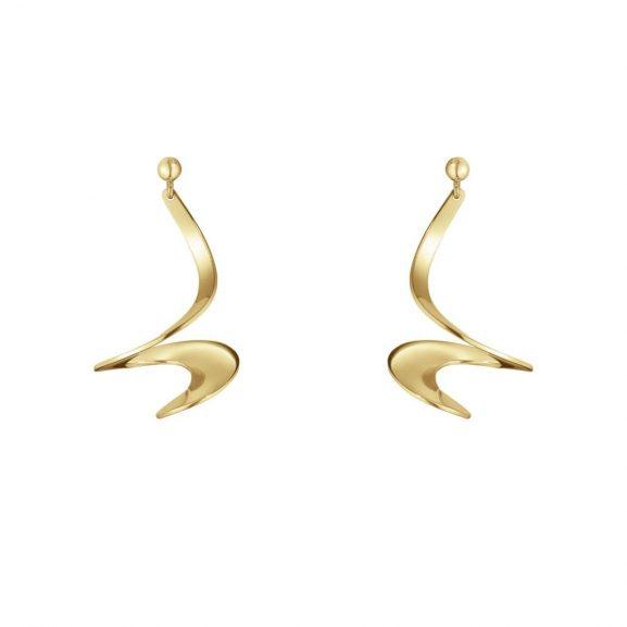 Möbius Örhängen 18k Guld Hängande från Georg Jensen