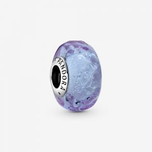 Vågig Lavendelfärgad Muranoglas Berlock från PANDORA