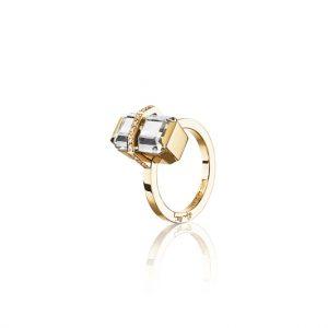 Little Bend Over Crystal Quartz Guld från Efva Attling