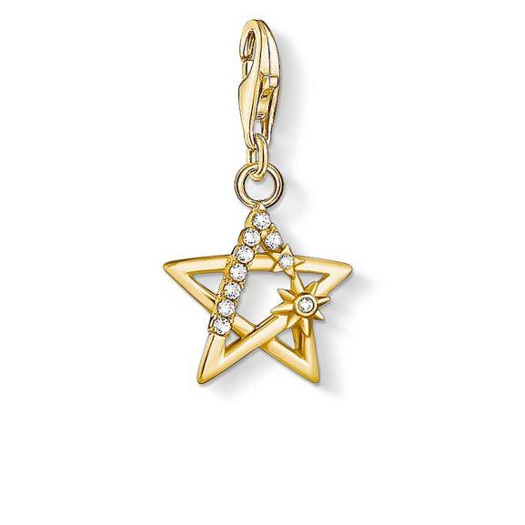 Guldstjärna med Stenar Berlock från Thomas Sabo