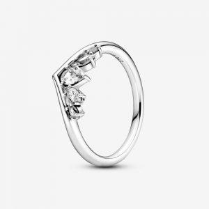 Glittrande Päron & Markis Wishbone Ring från PANDORA