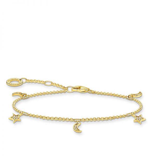 Armband med Stärna och Måne Guld från Thomas Sabo