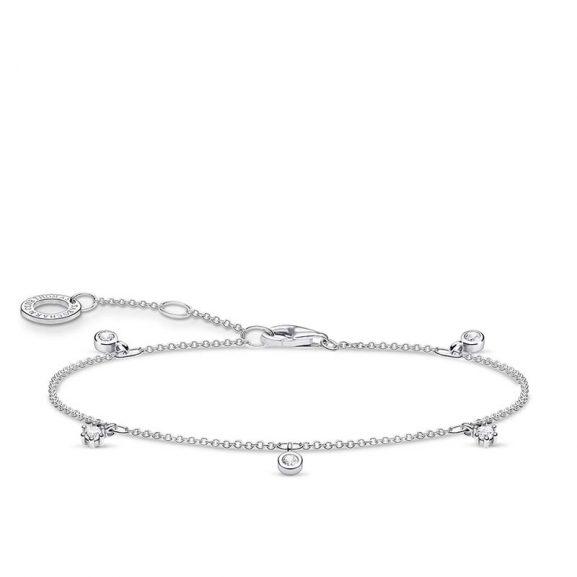 Armband med Vita Stenar Silver från Thomas Sabo