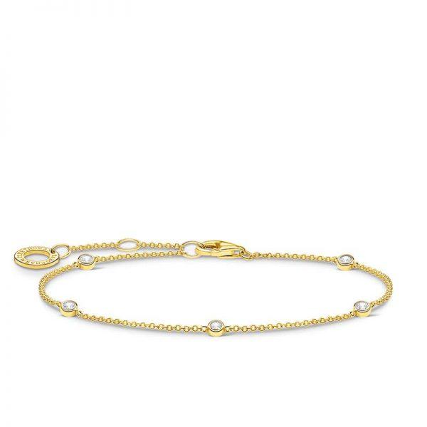 Guldarmband med Vita Stenar från Thomas Sabo