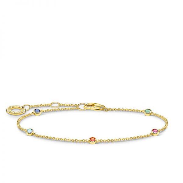 Guldarmband med Färgade Stenar från Thomas Sabo