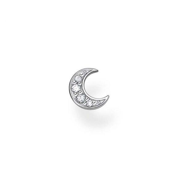 Stjärnörhänge Måne Pavé Silver från Thomas Sabo