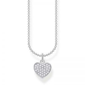 Halsband med Pavéhjärta Silver från Thomas Sabo