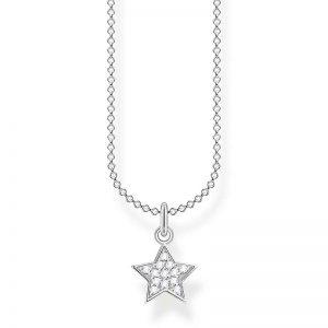 Halsband med Pavéstjärna från Thomas Sabo