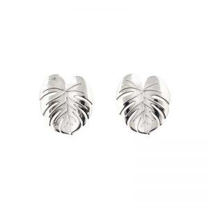 Palm Leaf Earrings Silver från Emma Israelsson
