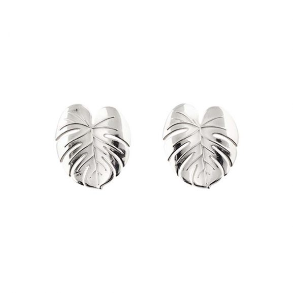 Palm Leaf Earrings Silver från Emma Israelsson