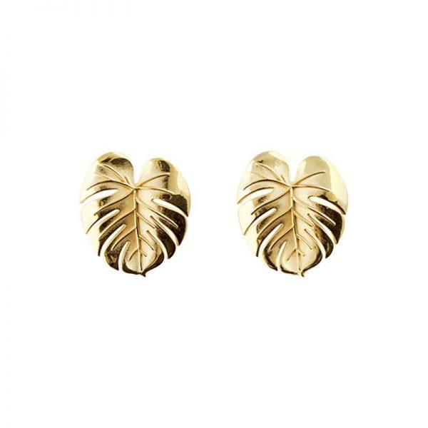 Palm Leaf Earrings Gold från Emma Israelsson