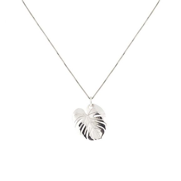 Palm Leaf Necklace Silver från Emma Israelsson