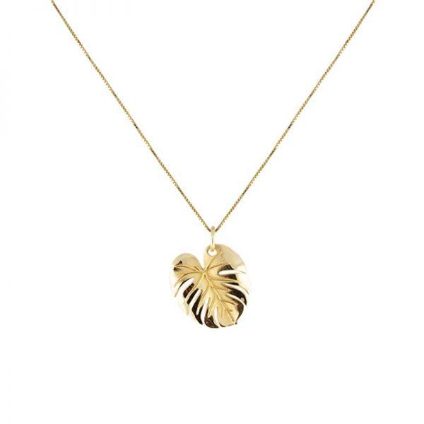 Palm Leaf Necklace Gold från Emma Israelsson