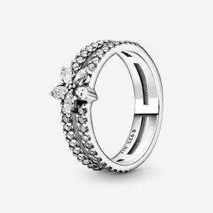 Glittrande Snöflinga Dubbel Ring från PANDORA