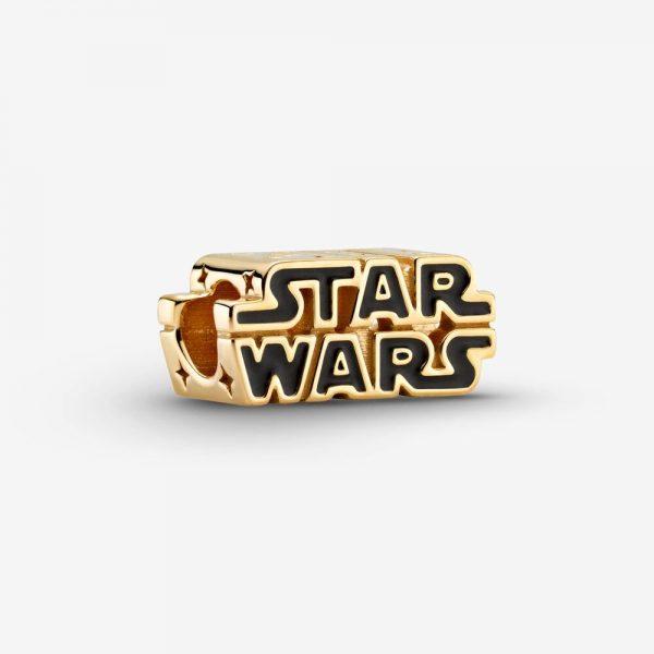 Glänsande Berlock med Star Wars-logotyp Guld från PANDORA