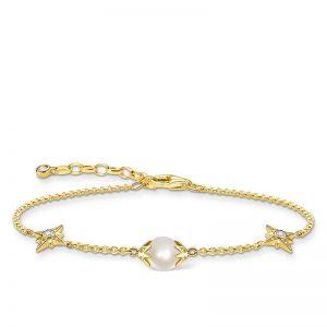Armband Pärla med Stjärnor Guld från Thomas Sabo