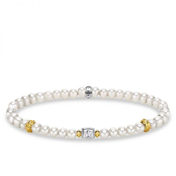 Armband med Pärlor och Halvmåne från Thomas Sabo