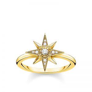 Ring med Stjärna & Stenar Guld från Thomas Sabo