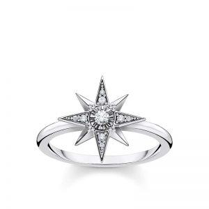 Ring med Stjärna & Stenar Silver från Thomas Sabo