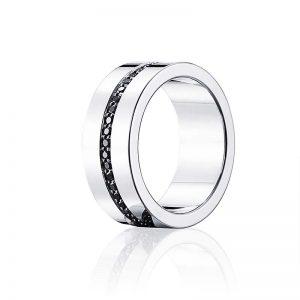 Wide & Black Stars Ring Silver från Efva Attling