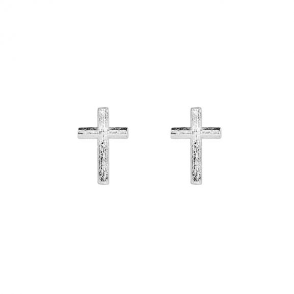 Branch Cross Pin Earring Silver från Emma Israelsson