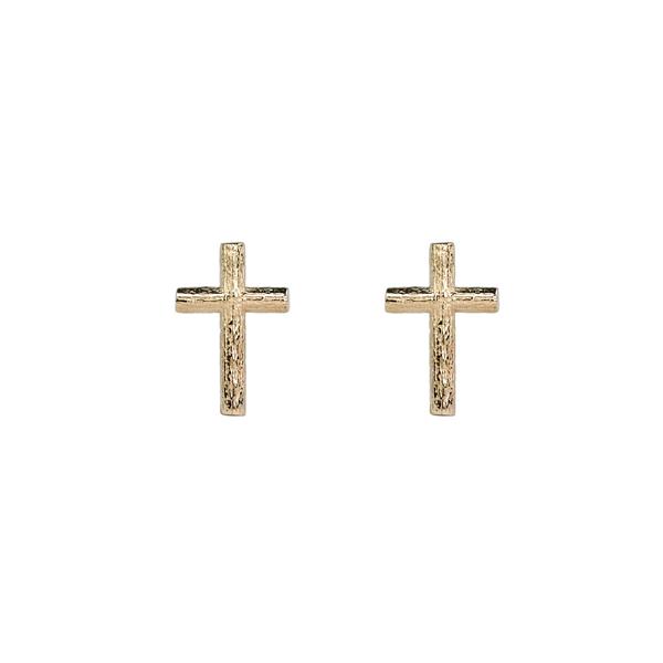 Branch Cross Pin Earring Gold från Emma Israelsson
