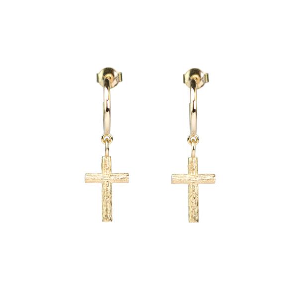Branch Cross Earrings Gold från Emma Israelsson