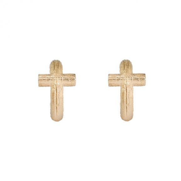Branch Cross Hoops Gold från Emma Israelsson