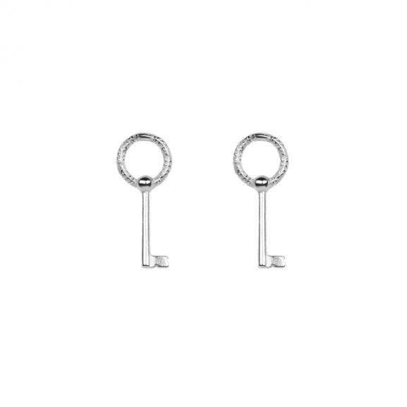 Key Pin Earrings Silver från Emma Israelsson