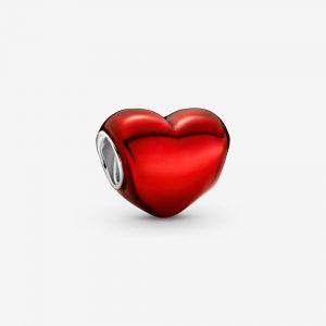 Metallisk Röd Hjärtberlock från PANDORA