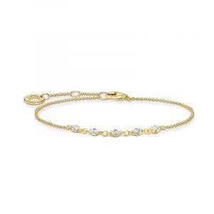 Armband Baguetteslipade Stenar Guld från Thomas Sabo