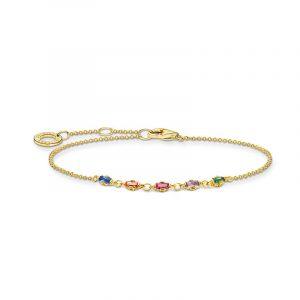 Armband Baguetteslipade Färgade Stenar Guld från Thomas Sabo