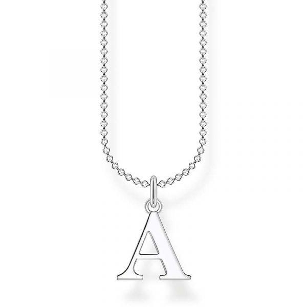 Bokstavshalsband Silver - A från Thomas Sabo