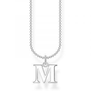 Bokstavshalsband Silver - M från Thomas Sabo