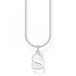 Bokstavshalsband Silver - S från Thomas Sabo