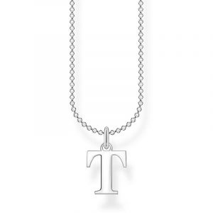 Bokstavshalsband Silver - T från Thomas Sabo