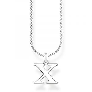 Bokstavshalsband Silver - X från Thomas Sabo