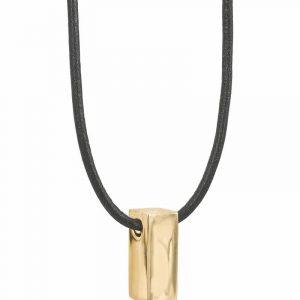 TIM Läder Halsband Guld från AROCK