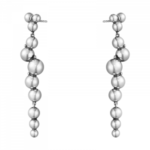 Moonlight Grapes Örhängen Lång Druvklase Silver  från Georg Jensen