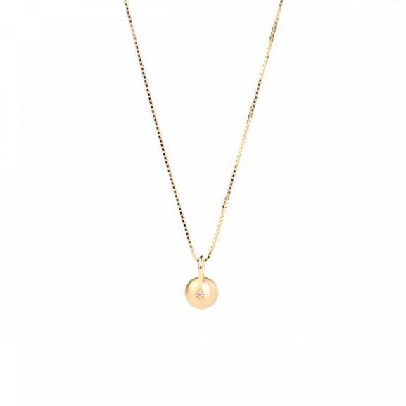 Sparkling Globe Necklace Gold från Emma Israelsson