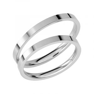 Schalins Förlovningsring Sign Of Love SR1036 18K Platina  - TeBoon.se