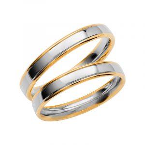 Schalins Förlovningsring Color Of Love SR3001 18K Guld/Vitguld  - TeBoon.se
