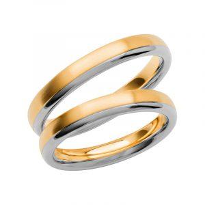 Schalins Förlovningsring Color Of Love SR3003 18K Guld/Vitguld  - TeBoon.se