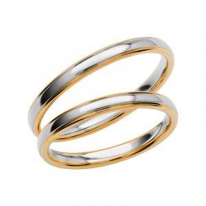 Schalins Förlovningsring Color Of Love SR3004 18K Guld/Vitguld  - TeBoon.se