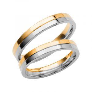 Schalins Förlovningsring Color Of Love SR3005 18K Guld/Vitguld  - TeBoon.se